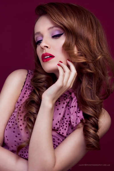 Modern-60's-Inspired-hair-and-makeup