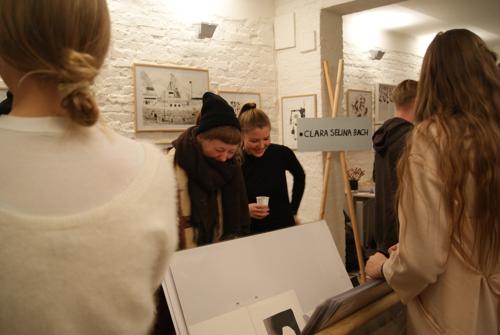 The opening of Clara's show at ArtRebels Pop-Up Shop for December 2014.