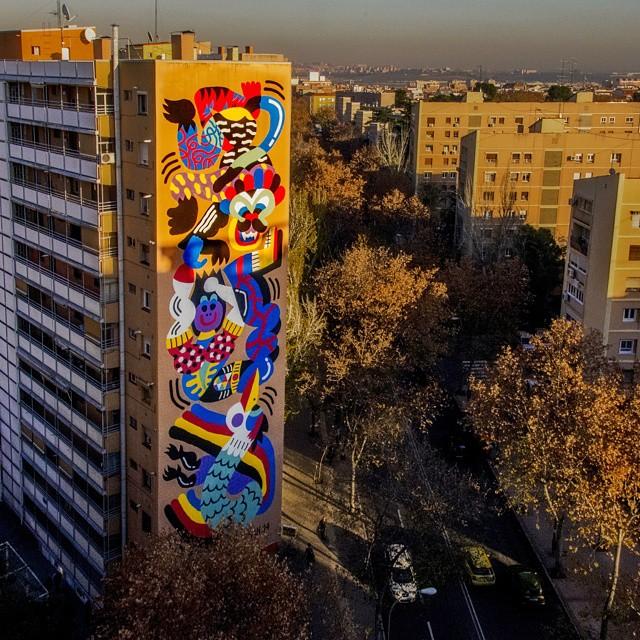 Good night... 'La Chute' Madrid 2014.  @3ttman #tuesdaytakeover #artrebels  #couldnotresistthelastone