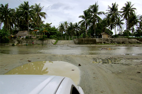 Storms used to wash out roads in the area.