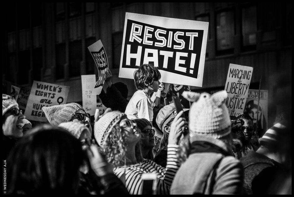 Women's March Los Angeles   Resist Hate  Jan 21, 2017