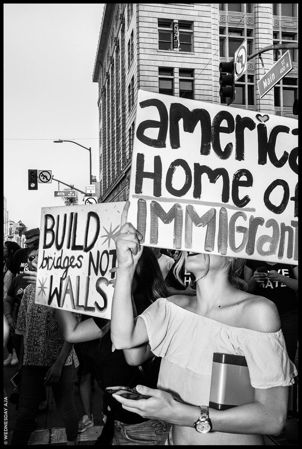 DACA  (Deferred Action for Childhood Arrivals) Protest in support of the program // Santa Ana, CA Sept 5, 2017