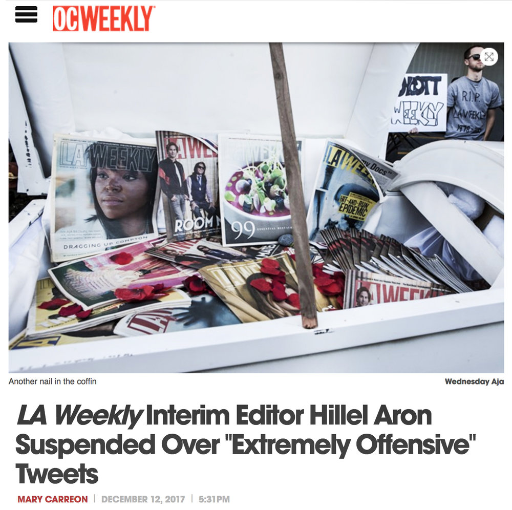 http://www.ocweekly.com/news/hillel-aron-suspended-over-extremely-offensive-tweets-8631747