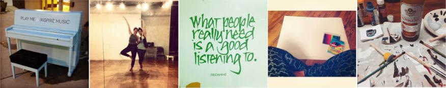-MUSIC-                  -DANCE-             -TALK/LISTEN-           -JOURNAL-                -ART-