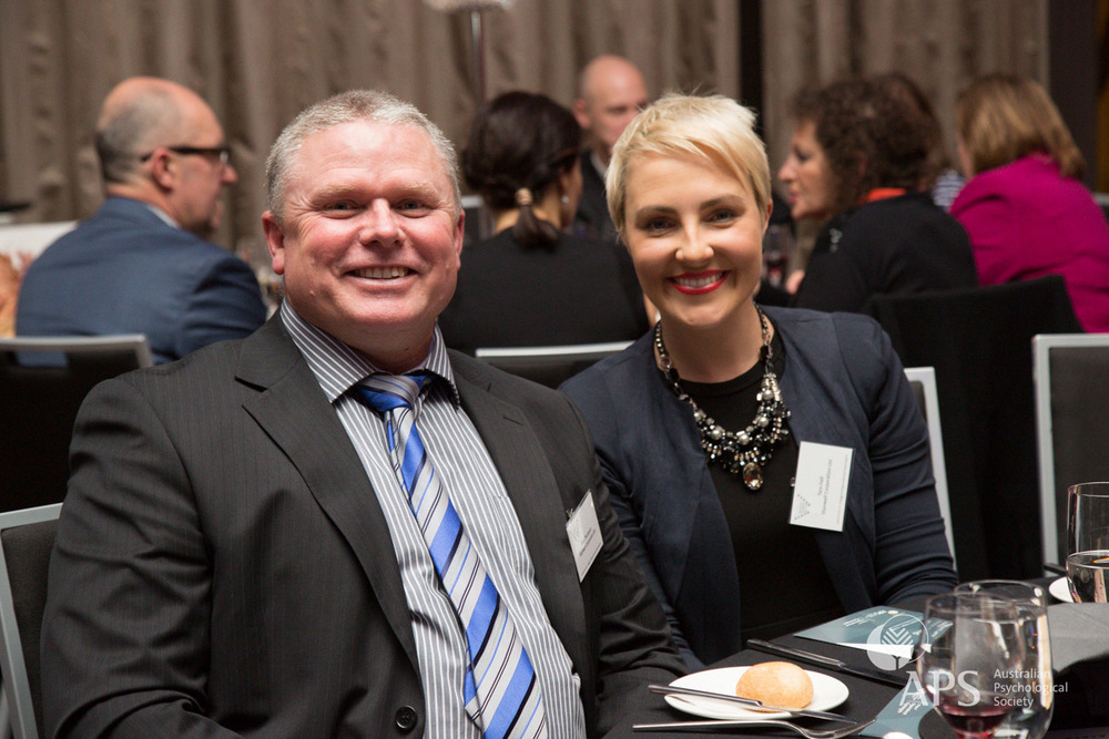 Allan Thompson and Tara Hall of Stanwell Corporation, winners of the Workplace Excellence Award for Workplace Health and Wellbeing 2015