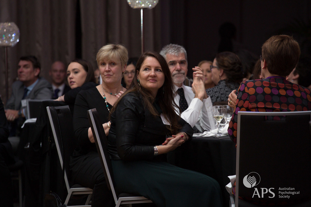 Kathryn Von Treuer, Chair of the 11th Industrial and Organisational Psychology Conference, at the  Workplace Excellence Awards 2015 gala dinner
