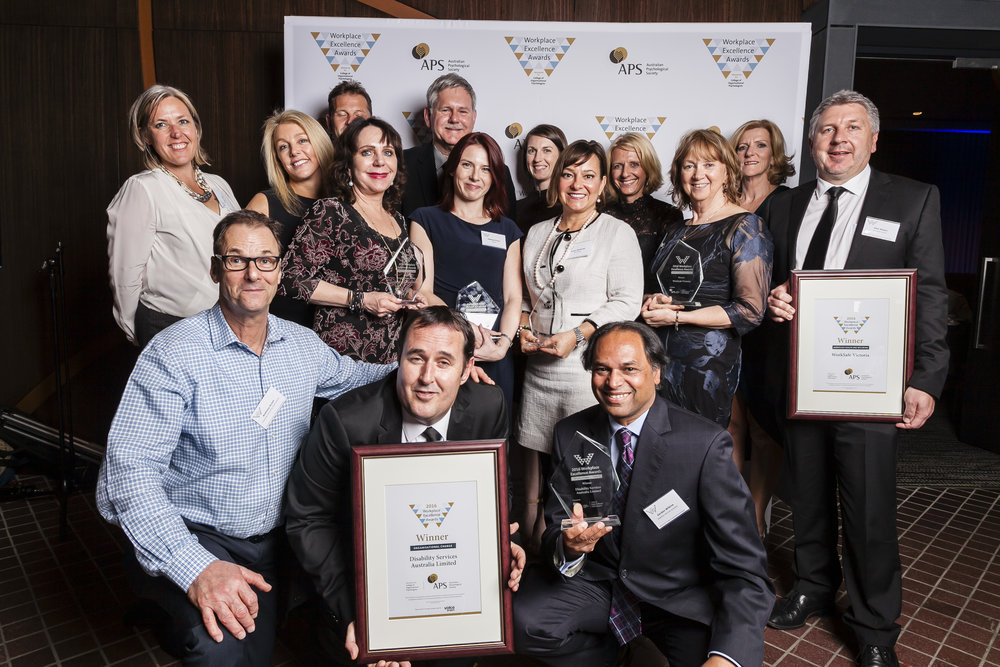 Winners in the 2016 Workplace Excellence Awards - all category winners pictured -included BHP Billiton, Commonwealth bank AnD Telstra