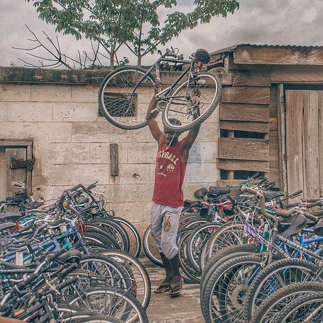 Goooood afternoon freedom riders! Baba Kasim says THANK YOUUUU to all the generous souls who made this incredible shipment of bikes possible!