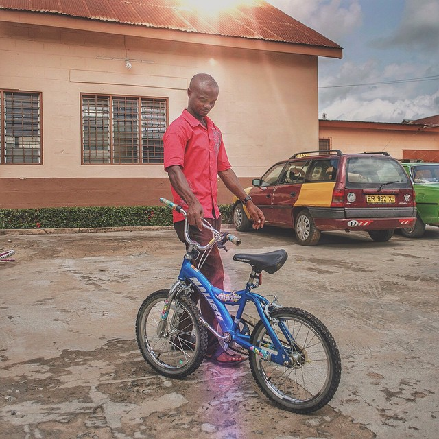 Abdulai knows a whole bunch of little kids in koforidua who are gonna love rolling up on this sweet little ride. This bike's ready to learn some tricks! Right now!