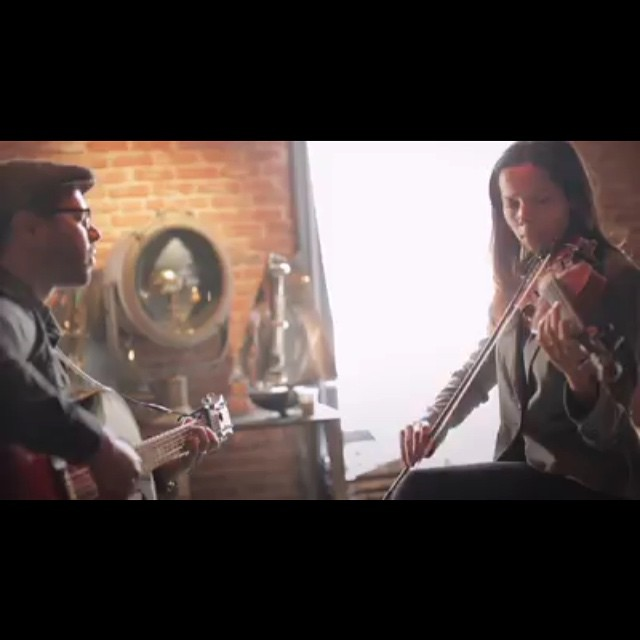 "A still of my video shoot w/ @rhiannongiddens. Check out ""Up in Arms"" on YouTube.com/bhibhiman. An incredible artist, friend, and champion for the underdog. #duets #collaboration #hueypnewton #oakland #blackpanthers #bobbyhutton #bobbyseale #upinarms"
