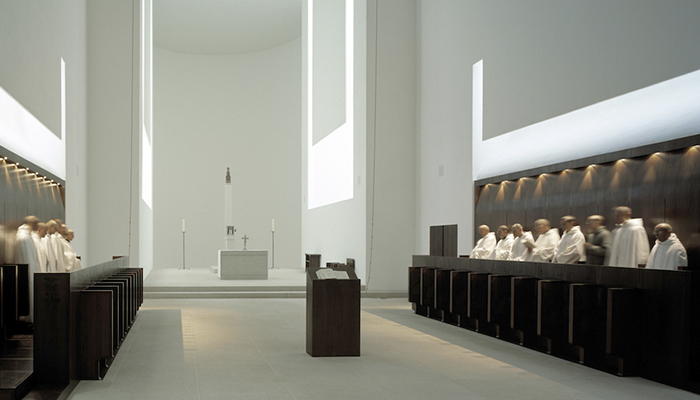 Interior remodelling of St. Moritz Church by John Pawson