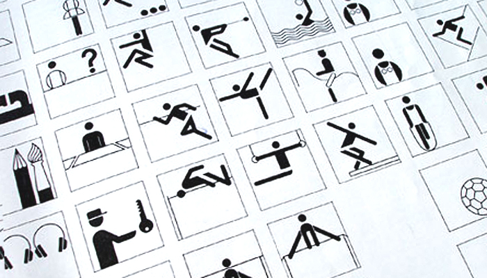Otl Aicher pictograms for the 1972 Olympic games