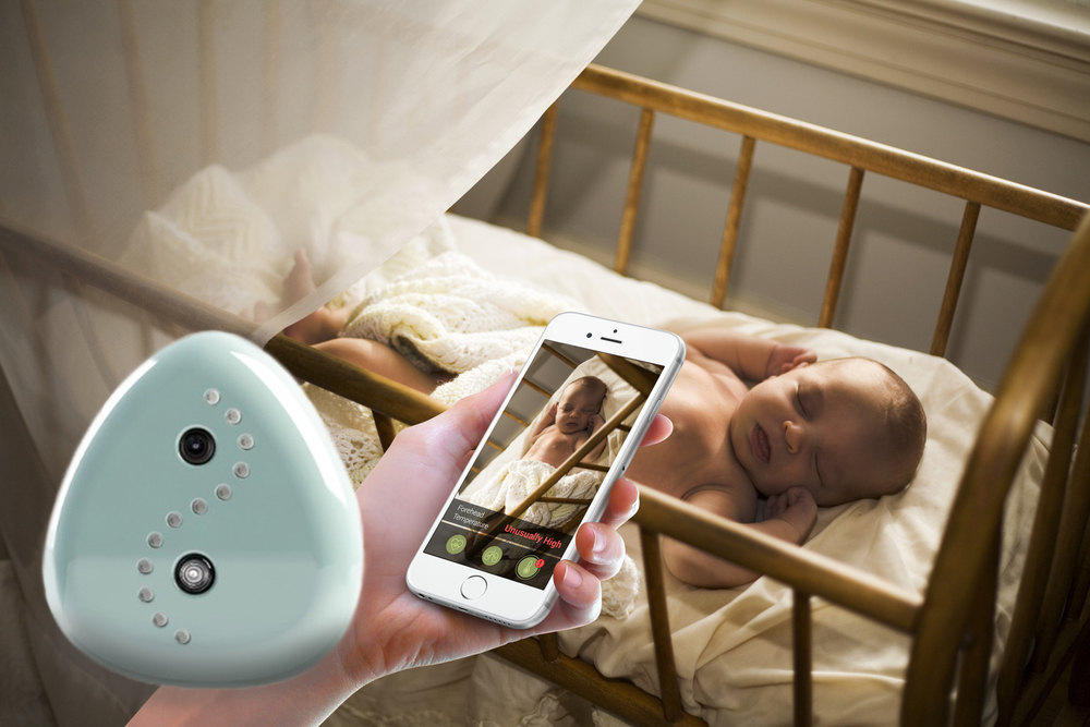 """CocoonCam is a ""wearless"" camera that allows parents to track heart rate, temperature and respiration."