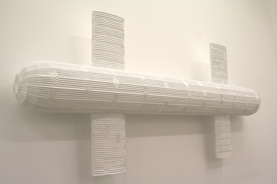 Brett Graham, Rukuhia III (2011). Carved and painted MDF, 232cm x 102cm x 28cm.