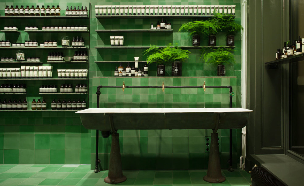 The Aesop brand is about offering a learning experience as much as a product. The brand's first flagship store in Germany, designed by studio Weiss—heiten, draws upon Berlin's industrial history and marries it with references to the Bauhaus art school. Many other Aesop stores leverage their local history in a similar way to create something truly authentic.