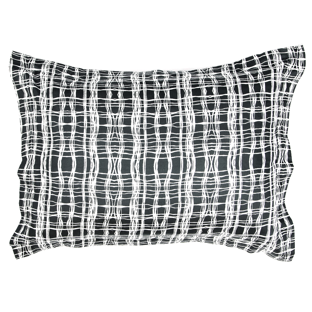 CHECK PILLOW SHAM SET