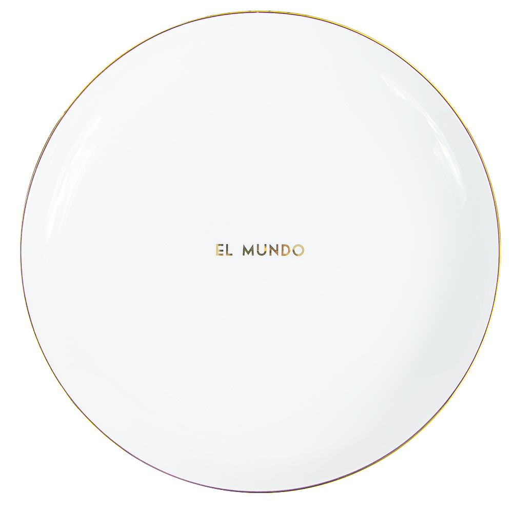 EL MUNDO ROUND PLATE More Colors
