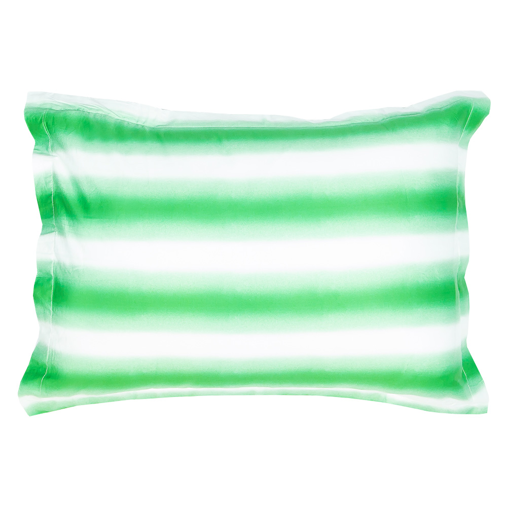 GREEN OMBRE PILLOW SHAM SET