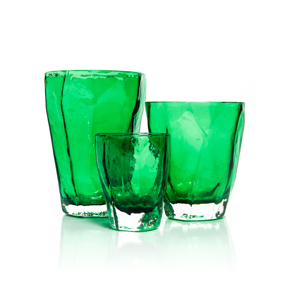 EMERALD SOFT ROCKS GLASSES SET