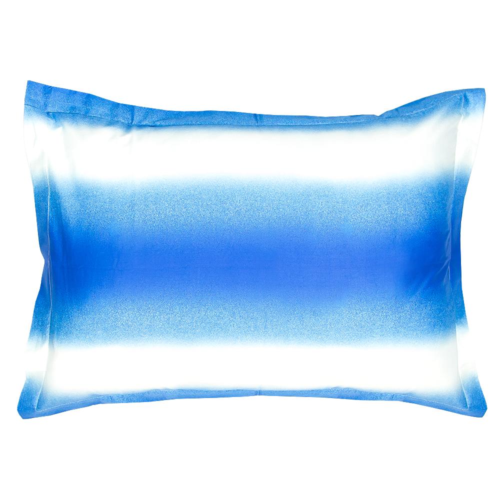 BLUE OMBRE PILLOW SHAM SET