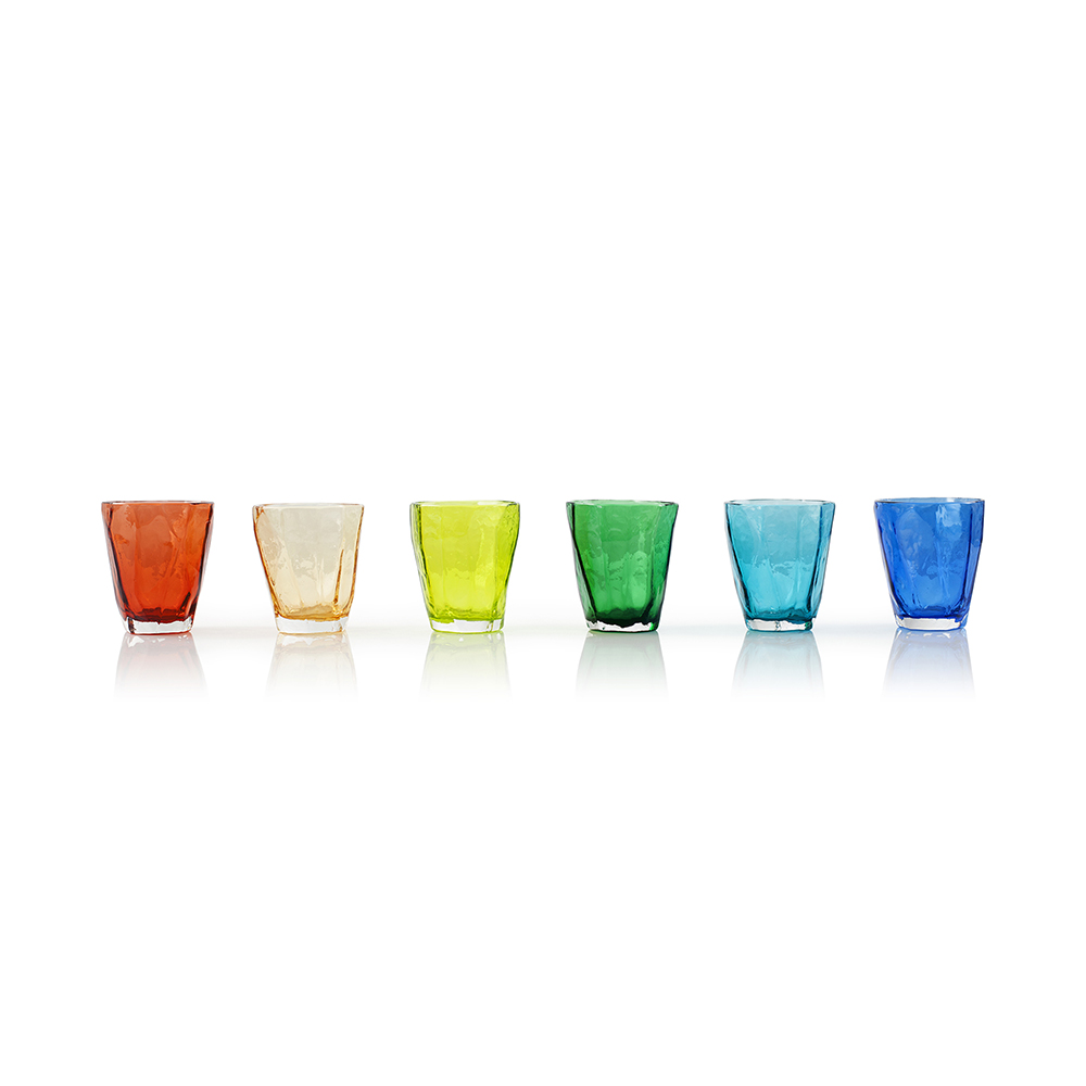 COLORED SOFT ROCKS GLASSES SET More Sizes
