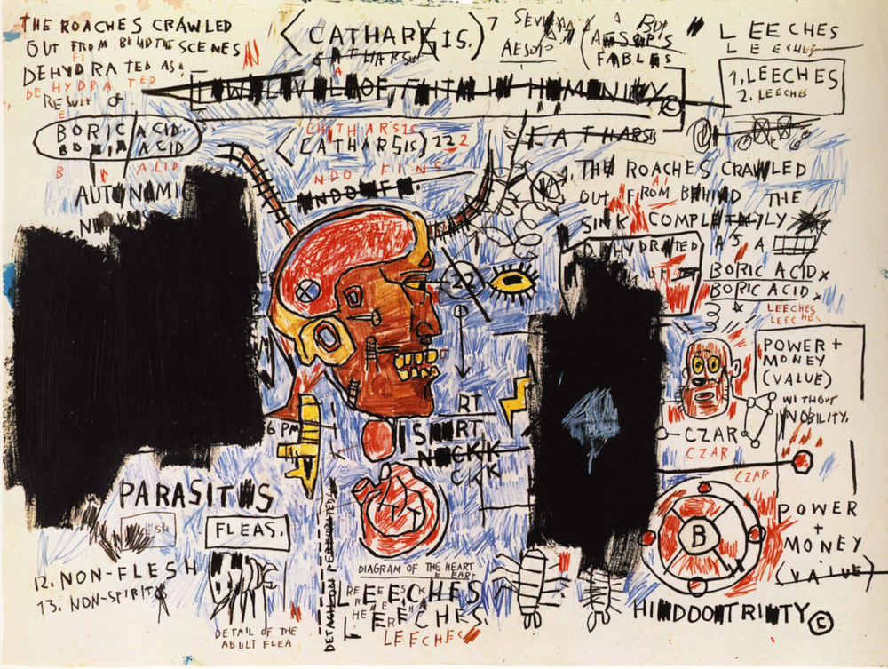 Leeches by Jean-Michel Basquiat