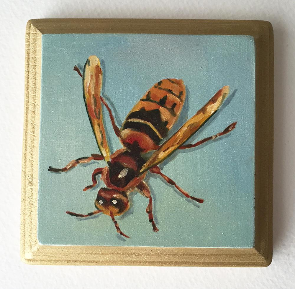 """hornet no. 2   oil on wood 4"""""""