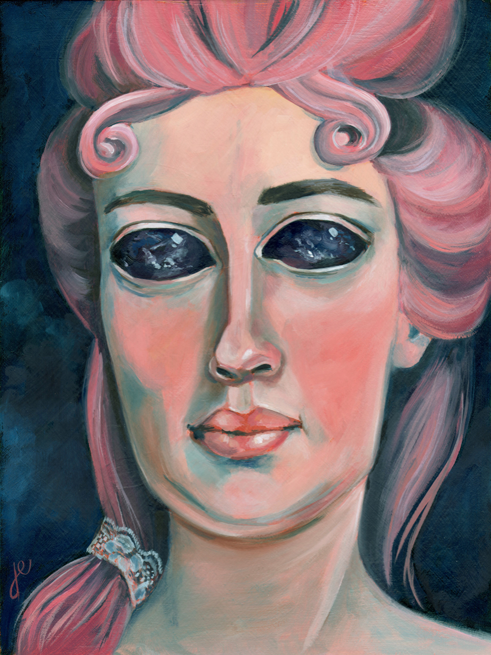 "prophetess   oil on wood 8 5/8"" x 11 1/4"""
