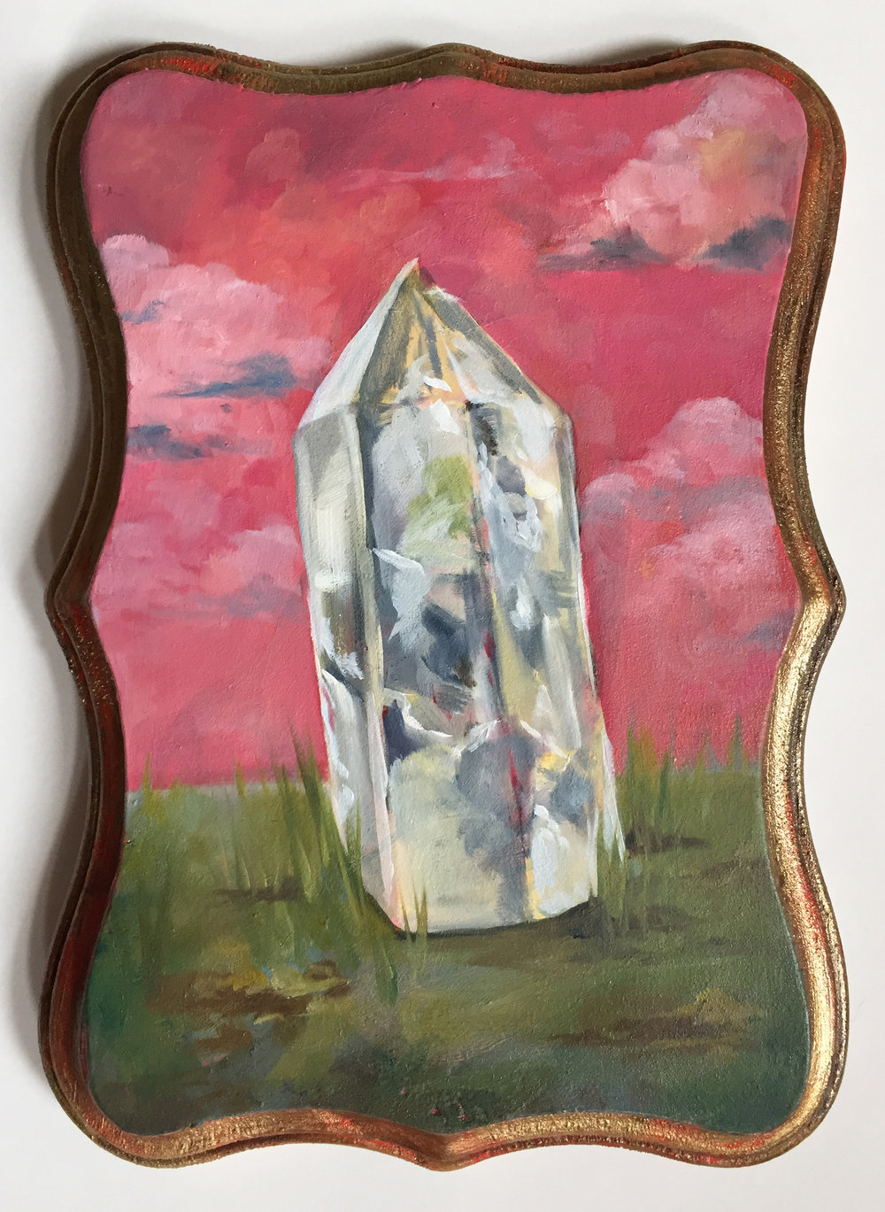 "quartz   oil on wood 5"" x 7"""