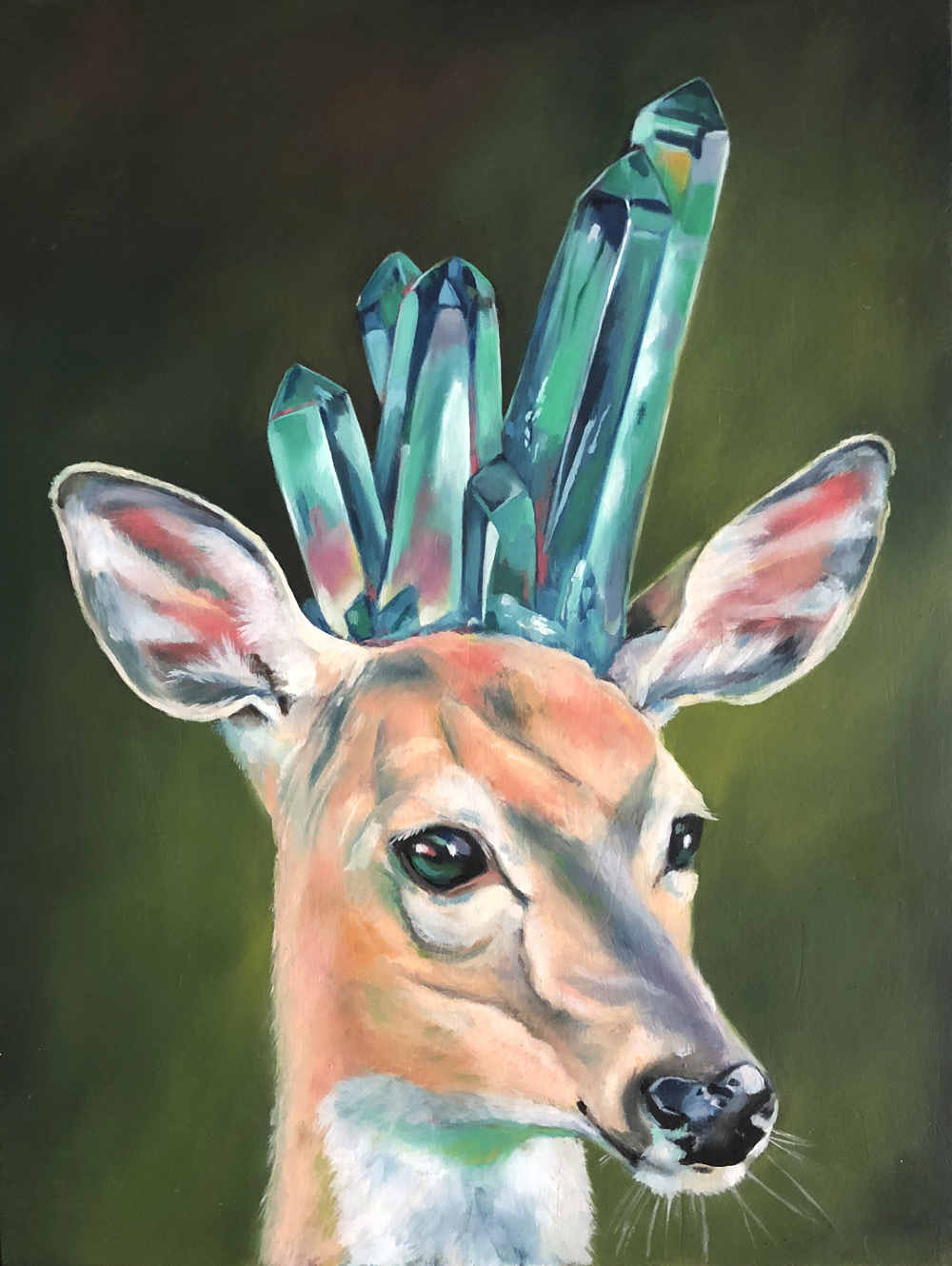 "patient doe   oil on wood 8.5"" x 11"""