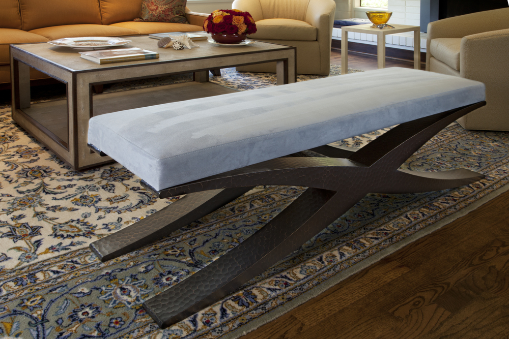 Iron Sculptural bench crafted by Eric Brand