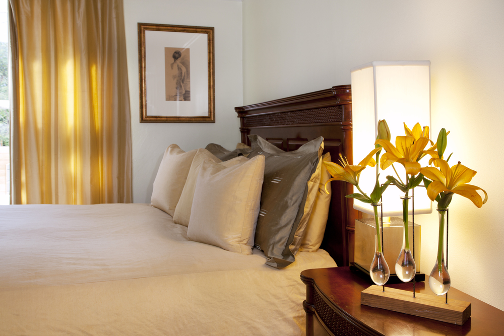 Tranquil and elegant shades of gold bedroom