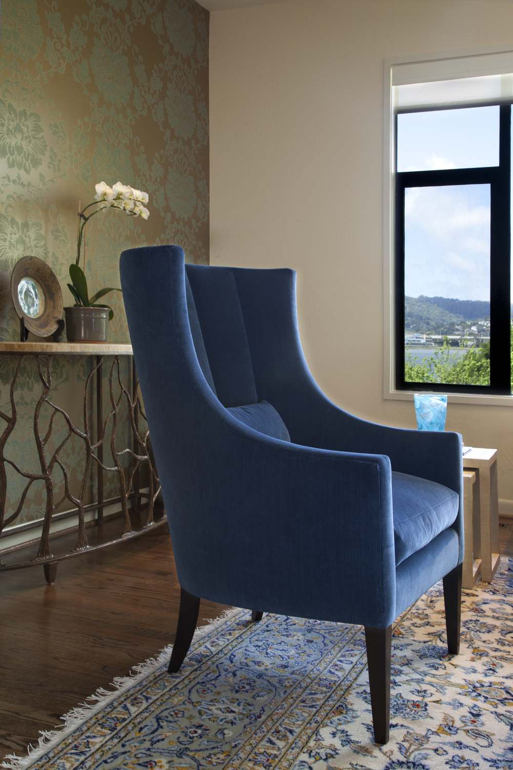 Endora chair and twig console