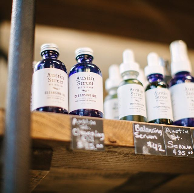Many thanks to @kaitlinmsimmons for this lovely shot of a few of our facial care favorites at @whiterocksoapgallery!