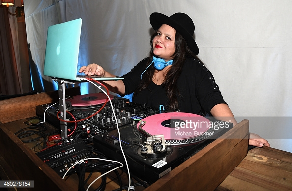 Ana Calderon DJing Refinery29 Los Angeles Holiday Part
