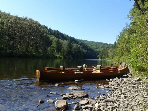 Notre magnifique Rivière Matapédia bordée de sa forêt diversifiée   Photo: Louise Beaupré