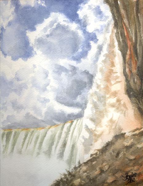 À l'ombre des chutes Niagara