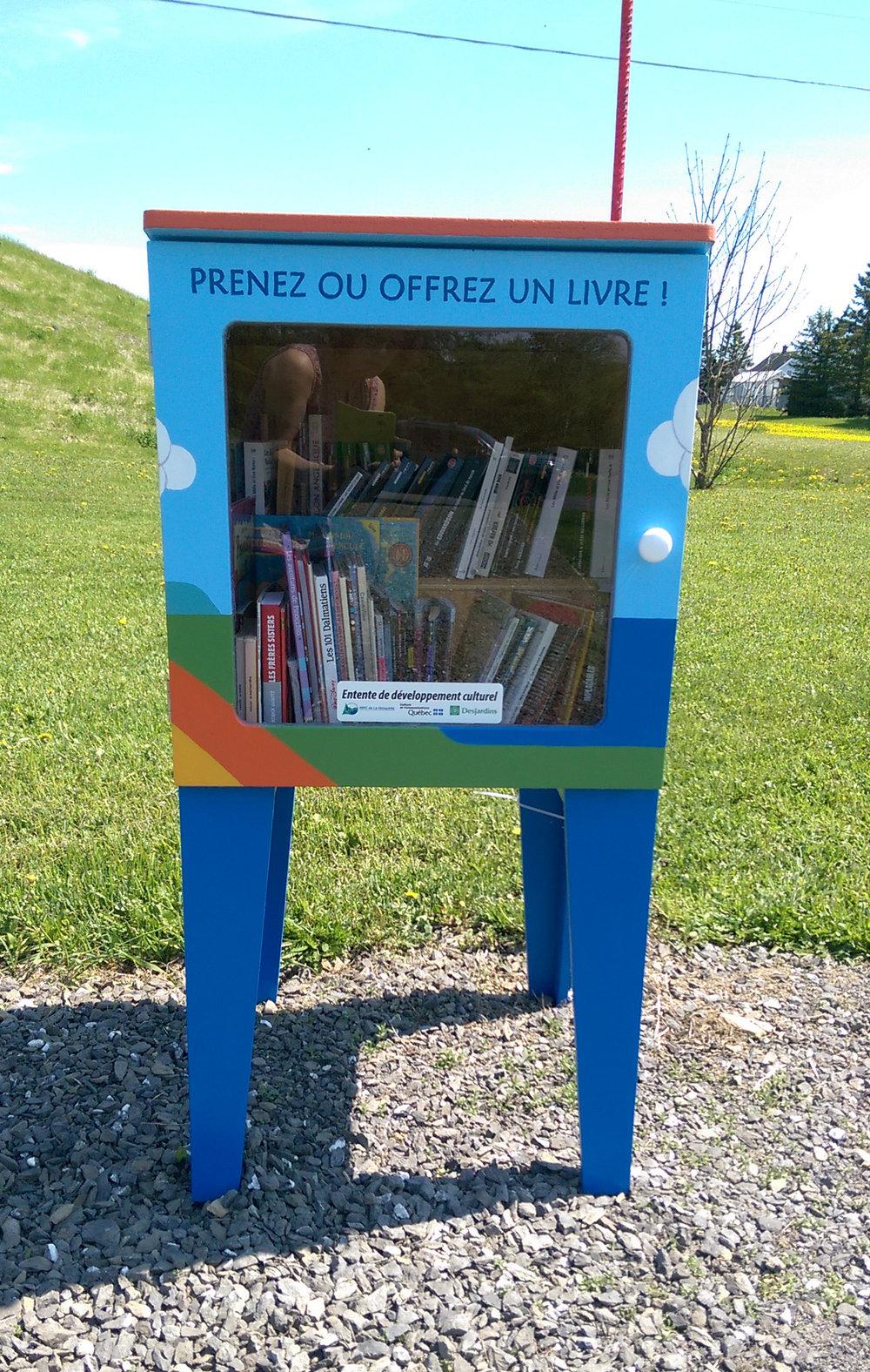 Boite à livre installée à Sainte-Irène