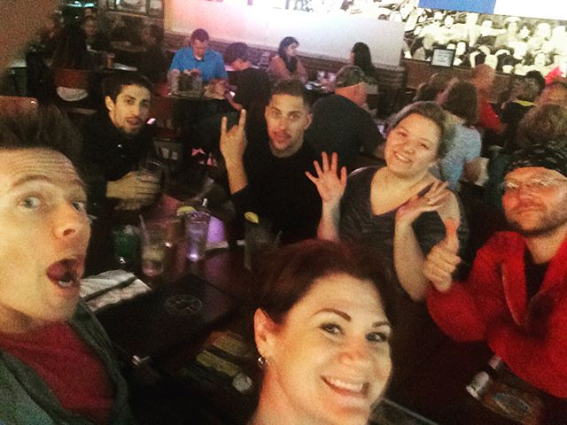 Clowning around and getting some grub at #Melt in Cleveland. A special thanks to Cory, Sharon and Brian (as well as the @sapphiremanagement crew) for all the help, fun and laughs this past weekend at #clevelandcomiccon - Great Times!! #powerrangers #redranger