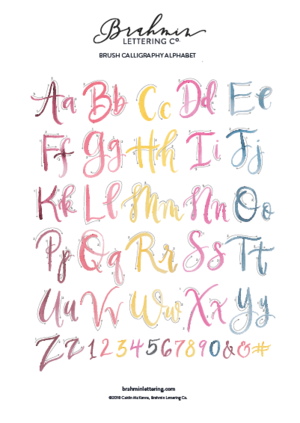 calligraphy resources brahmin lettering co