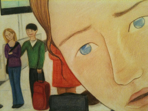 Detail of one of my picture book illustrations. Featured in Amelia's Magazine review of my Degree Show.