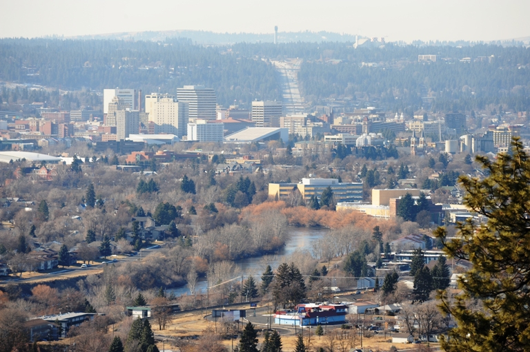 Southwest View of Downtown and Avista