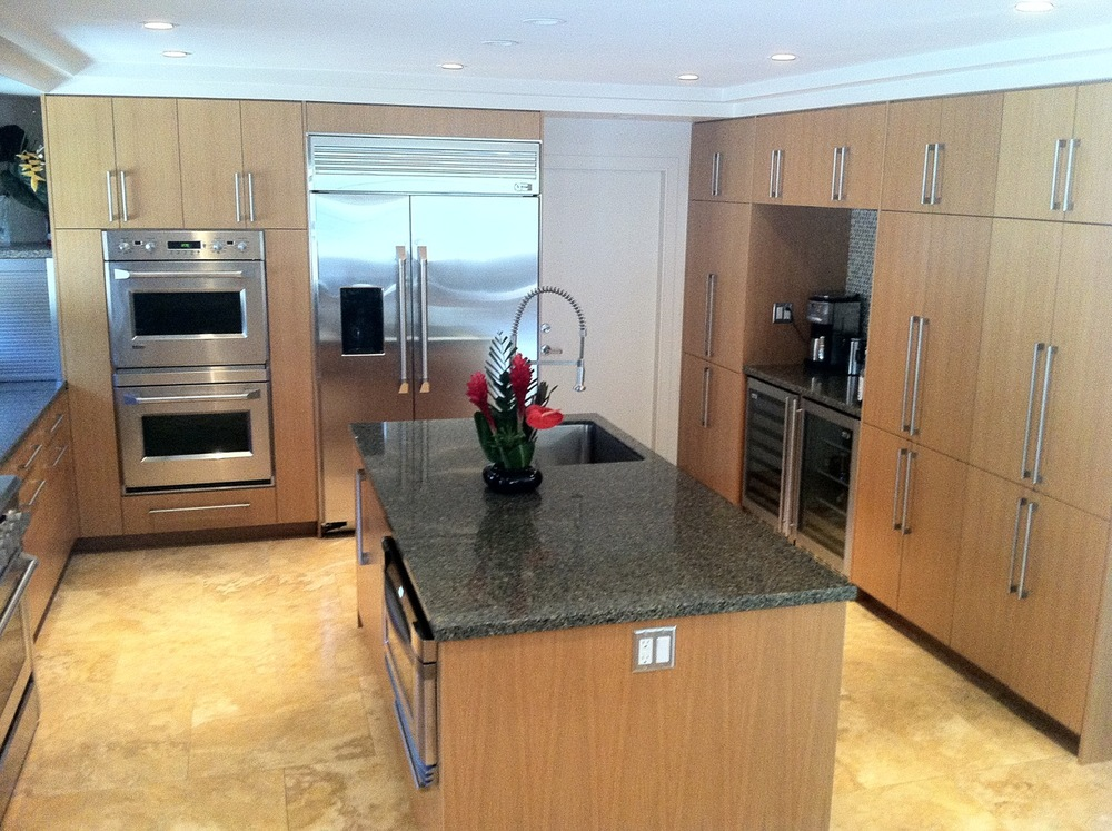 Custom cabinets and Zodiaq quartz countertops