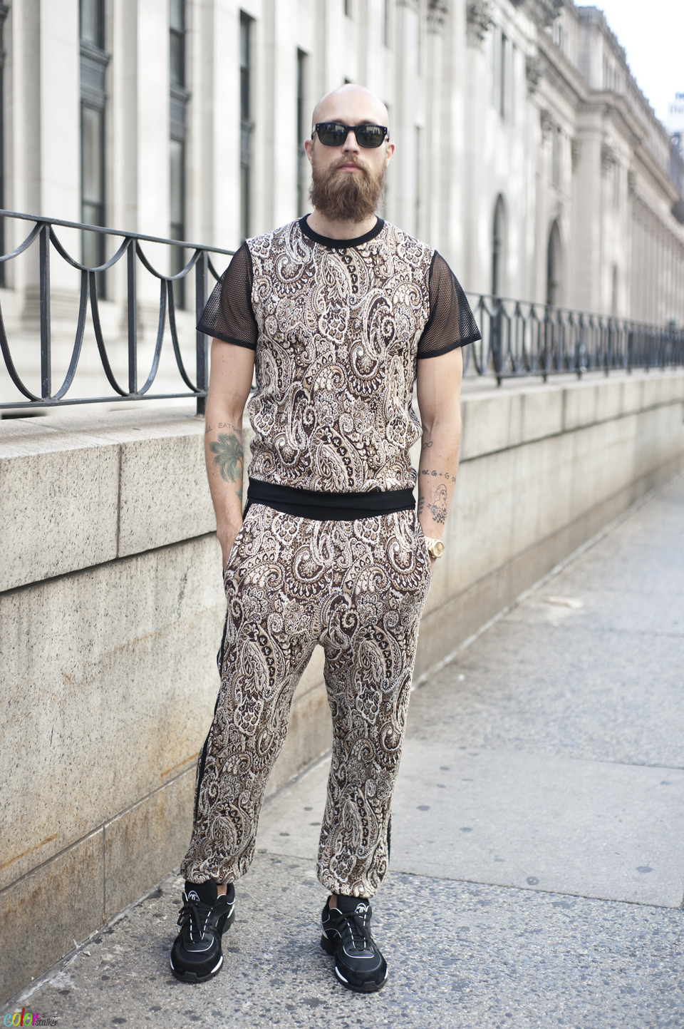 There are alternatives to tracksuits! Keep it monochromatic or go wild on prints, colors and textures.