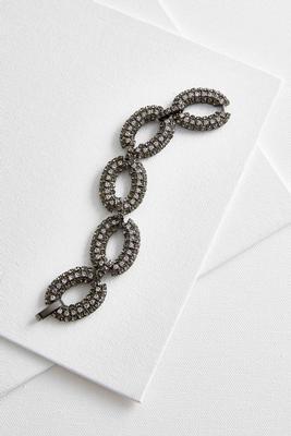 Versona pave oval link bracelet