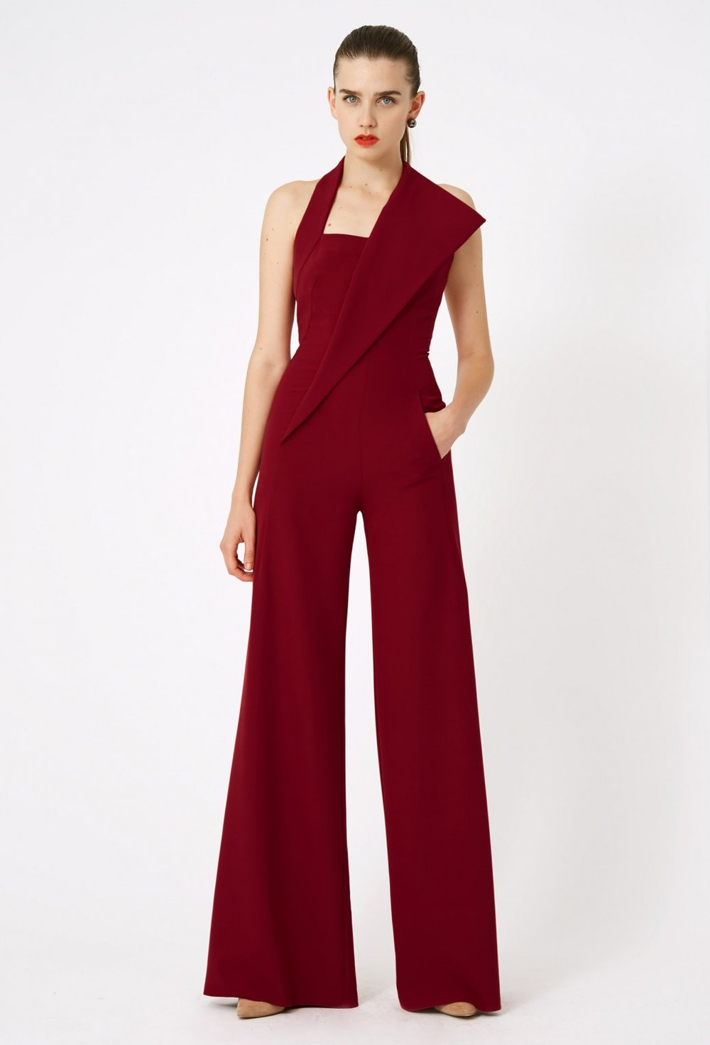 AQ/AQ Heather Halter Neck Jumpsuit