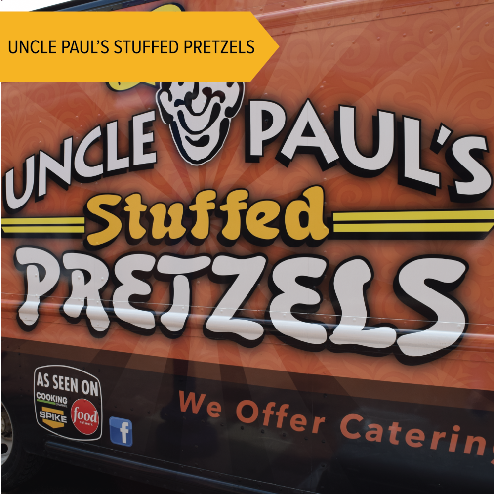 Uncle Paul's Stuffed Pretzels   These super popular pretzels are stuffed to the max with meats and cheeses!