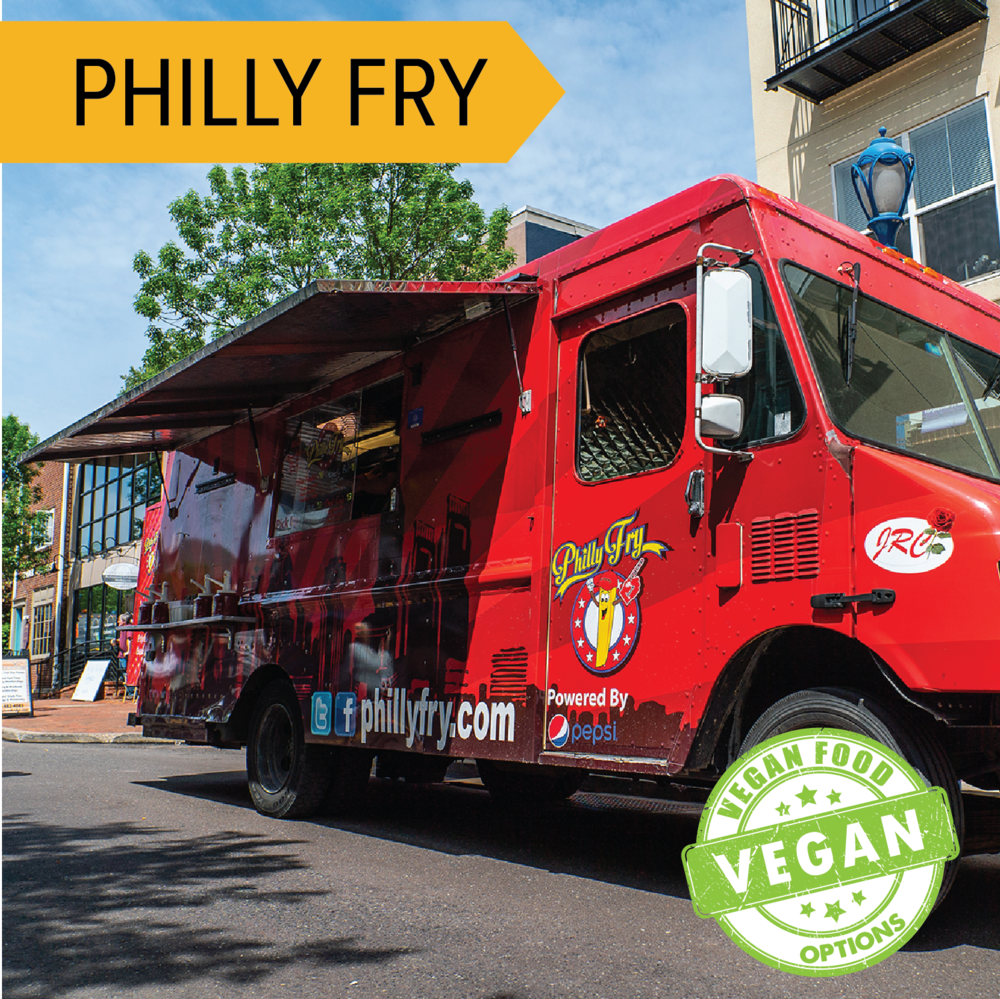 Philly Fry   Fries loaded with delicious toppings like meats and melted cheese!  Vegan options available