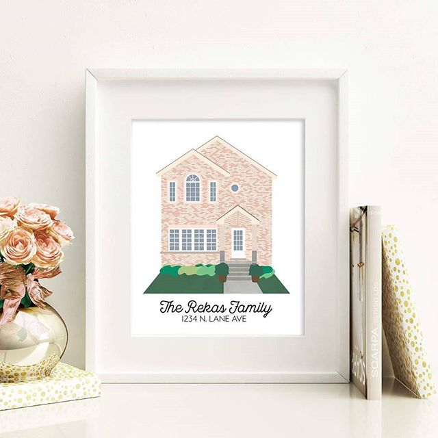 Being an architecture student has inspired me to design custom home illustrations! I'm please to announce that the listing is officially in my shop! This gift would be perfect for first time home owners or anyone who wants a cute illustration of their home framed. Link to my shop is in my profile! Let me know if you have any questions! ❤