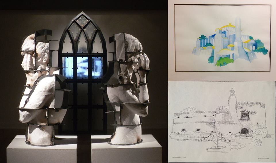 "Writ & Vision is proud to present a new exhibit, ""Light and Loss,"" featuring the works of two artists: Adam Sherwood and Lori Reynolds, this Friday, March 18th, at 6 pm.    This show is a study in aesthetic contrast in the treatment of similar themes. Though they both trained at BYU, Lori and Adam are very different artists. Lori trained in Berlin, and has been painting delicate and fascinating work, largely in watercolor, for decades. Her work explores mythic places and extraordinary settings in a broad, deliberately rainbow-like color pallet. Adam is younger, and his work consists largely of sculpted figures bound in steelworks. He explores the intersection of consciousness and materiality, of philosophical idea  ls and bodies bound by instinct.  Their work will show side by side, but as separate exhibits. Adam's show, ""Paradise Lost,"" will take up the front of the gallery as an installation of pieces viewers will spatially navigate. Lori's show, ""Love of Light,"" will hang in the second half of the gallery, a more traditional presentation of framed paintings and drawings with a few interactive surprises.  The show will open this Friday with a reception with the artists. It will run through April 3rd.   The opening and the exhibit are free and open to the public."